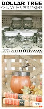 pumpkins made from dollar tree storage jars storage jars