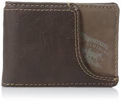 Money Clip Wallet Id Window Levi U0027s Men U0027s Front Pocket Wallet With Money Clip Brown One Size