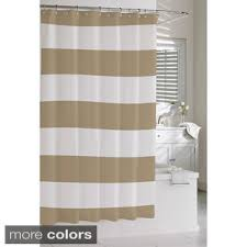 Shower Curtain Striped Hotel Quality Waffle Weave Stripe Fabric Shower Curtain 70 X72
