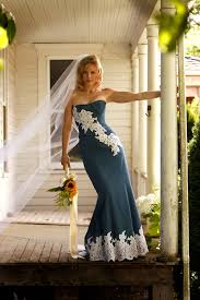 country dresses for weddings denim and lace rustic country wedding dress sle sale size 6