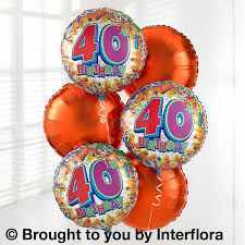 helium birthday balloons 40th birthday helium balloon bouquet torquay florist paignton