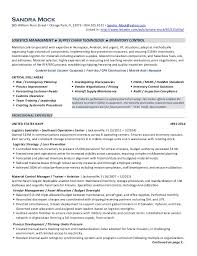 Resume Security Clearance Example by Logistics Resume International Logistic Manager Resume