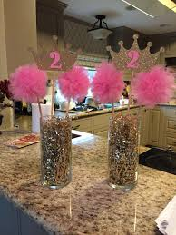 party centerpieces pink gold princess birthday party centerpiece party ideas
