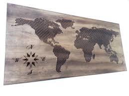 World Map Wood Wall Art by World Map Wall Art Map Stickers Ekse Previous U0026middot