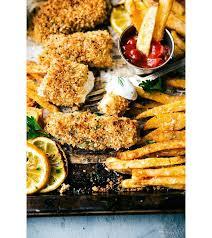 plat cuisiné au four fish and chips cette recette au four est plus saine que la version