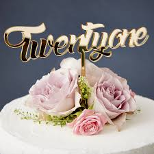 one cake topper twenty one birthday cake topper by