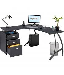 Wheaton Reversible Corner Desk Modern Reversible Corner Desk With Regal A4 Filing Black