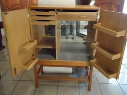 meubles design vintage meuble bar vintage en chêne massif et métal 1950 design market