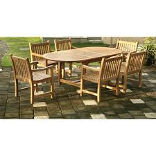 Grade A Teak Patio Furniture by Grade A Piemonte Teak Oval Extendable Dining Set 7 Pc Sam U0027s Club