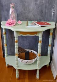 Painted Accent Table Mint And Gold Accent Painted Table Hometalk