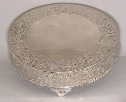 cake plateau nickel finish cake plateau 79720 event and wedding decorations