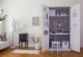gain de place créez votre bureau dans une armoire cupboard ikea