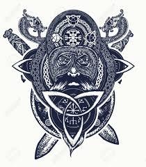 viking warrior t shirt design celtic amulet forces