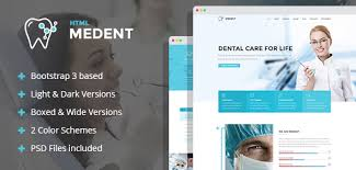 medent dental clinic html template with builder by mwtemplates
