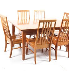 Mission Style Dining Room Furniture Mission Style Dining Room Table And Chairs Ebth