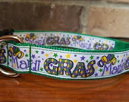dog collar mardi gras chevron mardi gras collar etsy