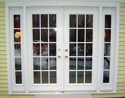 Exterior Wood Doors Lowes Cool Black Wooden Stained Glass Frame Patio Door Lowes With