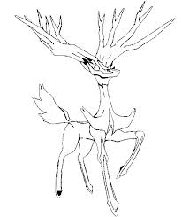 coloring pages pokemon xerneas drawings pokemon