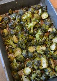 the worlds best roasted broccoli and brussels sprouts