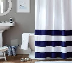 Shower Curtain Striped Striped Bottom Shower Curtain Pottery Barn