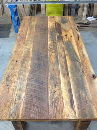 How To Build A Table Top How To Build Your Own Reclaimed Wood Table Diy Table Kits For Sale