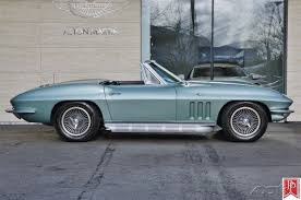66 corvette stingray 1966 corvette stingray convertible 4 speed mosport green black