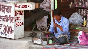 jaipur india april 13 indian craftsman works with fancy and