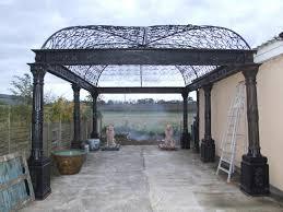 cast iron gazebo arbor architectural garden