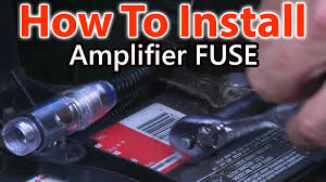 how to wire a fuse for car amplifier youtube