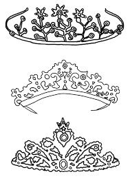 Type Of Princess Crown Coloring Page Netart Princess Crown Coloring Page Free Coloring Sheets