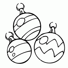 ornaments coloring page pencil and in color