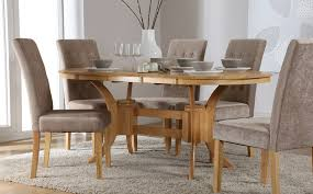 Oval Dining Tables And Chairs Set Oval Extending Table With 6 Folding Chair Type Designs Ideas