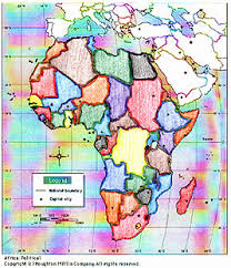 africa map color lesson plan the 53 nations of africa