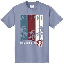 Comfort Colors Shirts Fsu Seminole Apparel Comfort Colors Unisex T Shirt With Surf Co
