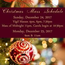 mass schedule st catholic church