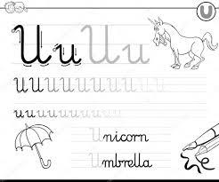 learn to write letter u u2014 stock vector izakowski 116082678