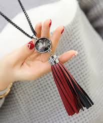 leather necklace wholesale images New trendy leather tassel long necklaces pendants gift fashion jpg
