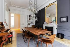 design attractor spectacular parisian apartment with mid century