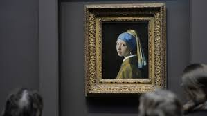 pearl earring painting girl with pearl earring to undergo examination entertainment