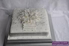 silver wedding anniversary explosion cake anniversary cakes