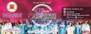 Thanksgiving Foundation 12th Year Prophetic Thanksgiving Service U2013 Hadassah Healing Foundation