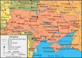 map ukraine ukraine map and satellite image