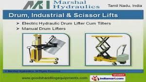 material handling u0026 industrial lift material handling equipment by marshal hydraulics coimbatore