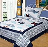 Airplane Bedding Twin Shark Bedding Twin Norson Navy Blue Striped Bedding Sets