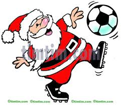 free drawing of a soccer santa from the category