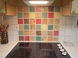 inexpensive solution for ugly tile backsplash mod podge and