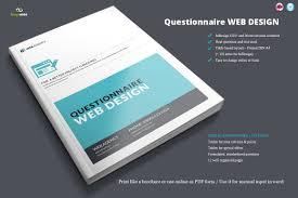 questionnaire web design brochure templates creative market