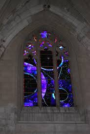 the national cathedral has many stained glass windows this one