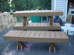 Composite Patio Table Make Benches From Scrap Composite Decking Outside Ideas