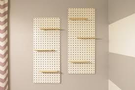 Peg Board Shelves by Diy Pegboard Shelf Simply House To Home